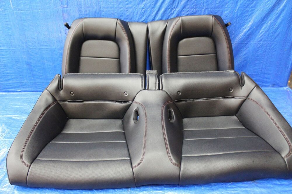 2015 15 Ford Mustang Gt Oem Factory Black Leather Rear Seats Assy 5 0l V8 1003 Ebay
