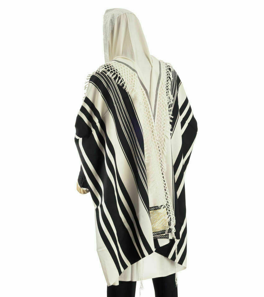 100 Wool Tallit Prayer Shawl Special Handmade Yemenite