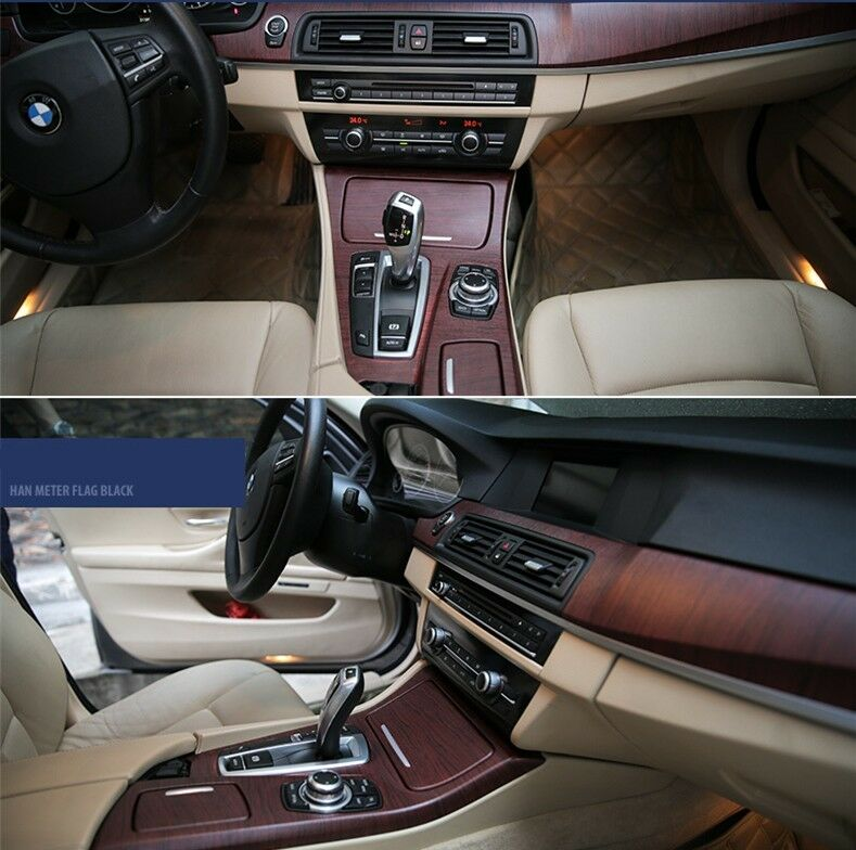 car interior realistic matte mahogany wood texture sticker change color vinyl ebay