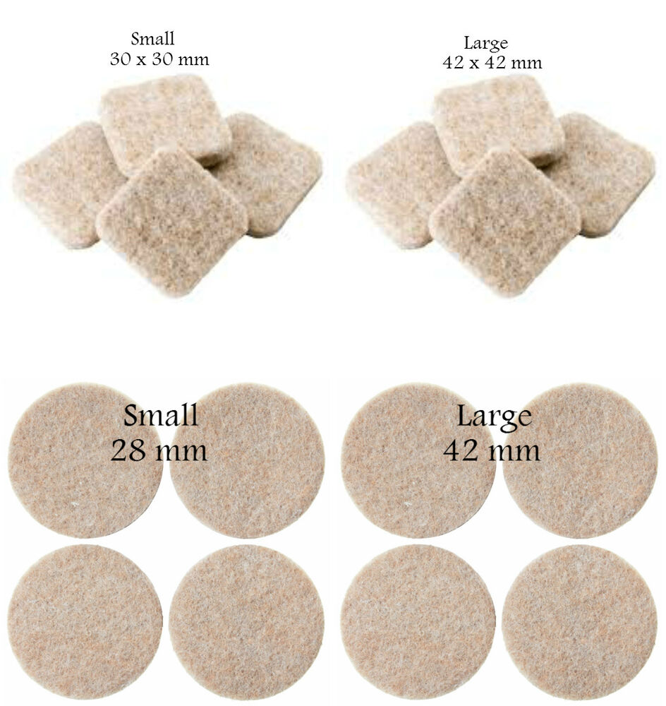 Self Adhesive Felt Furniture Pads Floor Wall Chair Scratch Protection Sticky Pad Ebay
