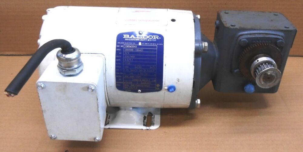 Baldor Motor Cwdm3542 3 4 Hp Boston Gear Reducer F713