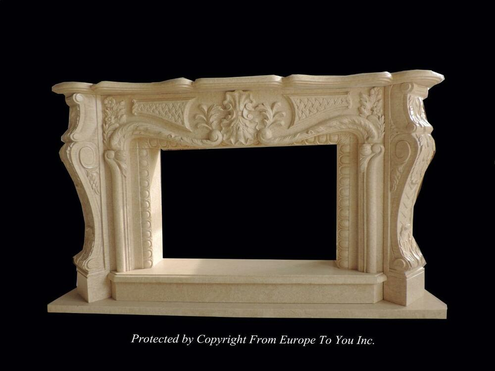 Beautiful Hand Carved Marble Estate French Style Fireplace Mantel Fpm857 Ebay
