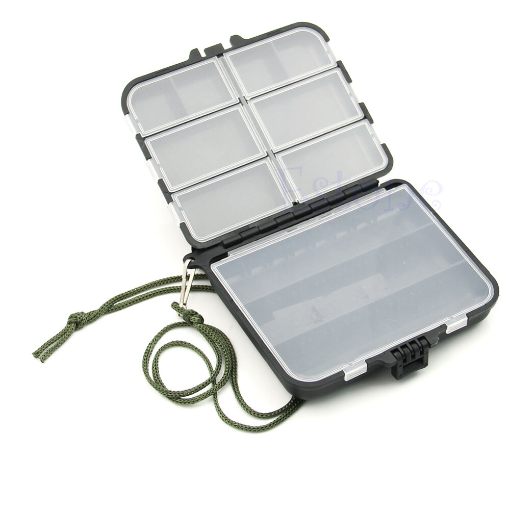 Portable fishing lure spoon hook bait tackle box crankbait for Fishing hook storage