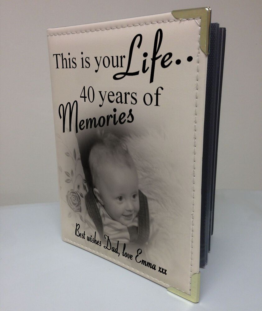 personalised photo album memory book this is your life. Black Bedroom Furniture Sets. Home Design Ideas