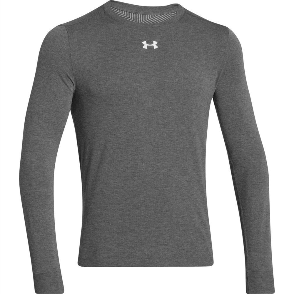 Under armour mens long sleeve t shirt grey infrared crew for Under armour cold gear shirt mens
