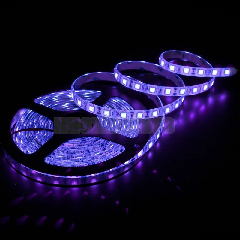 Smd 5050 led strip 300leds flexible uv purple waterproof for Uv fishing light