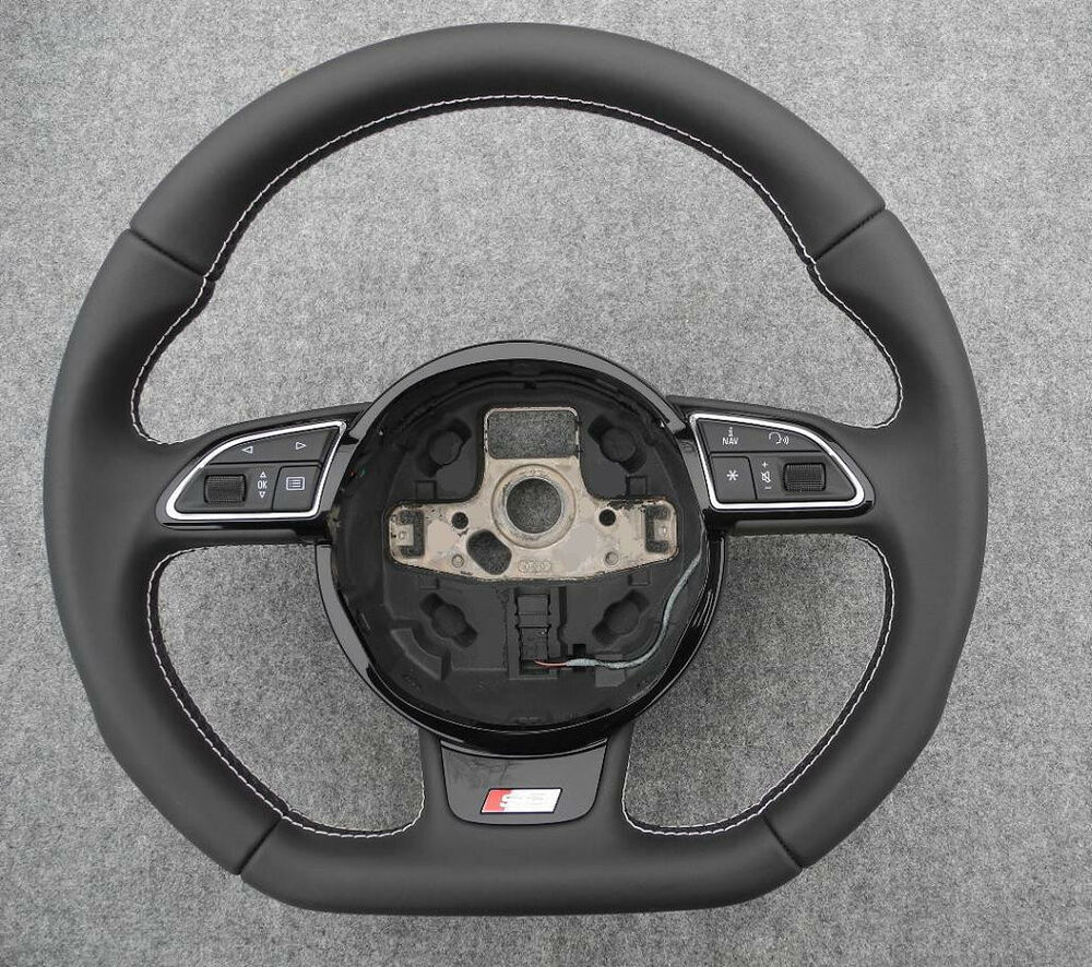 audi 2013 2015 s3 8v a3 w o dsg flat bottom steering wheel. Black Bedroom Furniture Sets. Home Design Ideas