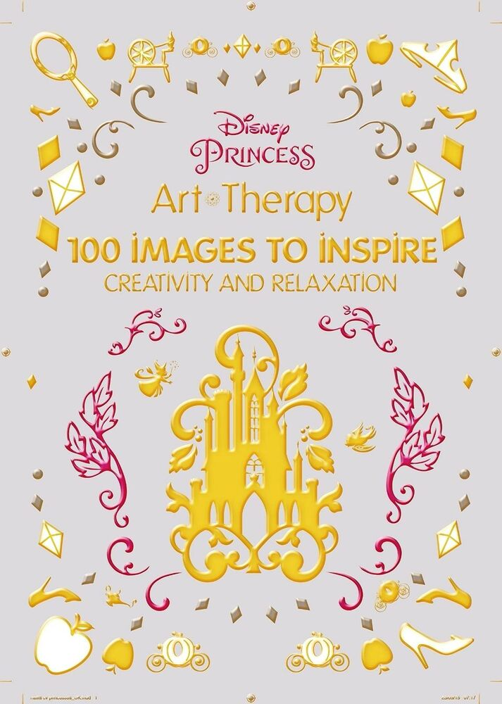 Art Coloring Disney Princess Creativity Relaxation Therapy Paint Adults Kids Fun 1484757408
