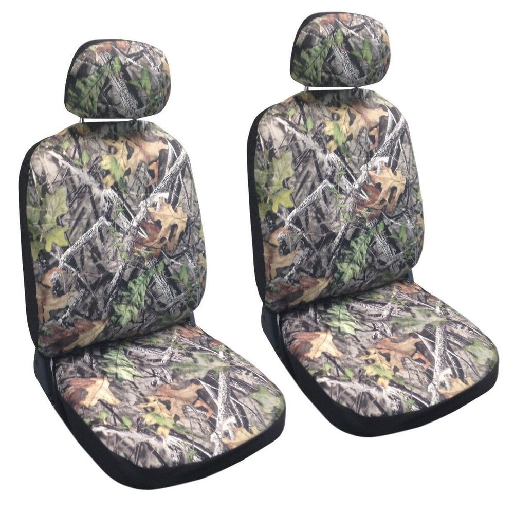 Mossy Camouflage Forest Gray Fitted Bucket Camo Front Seat