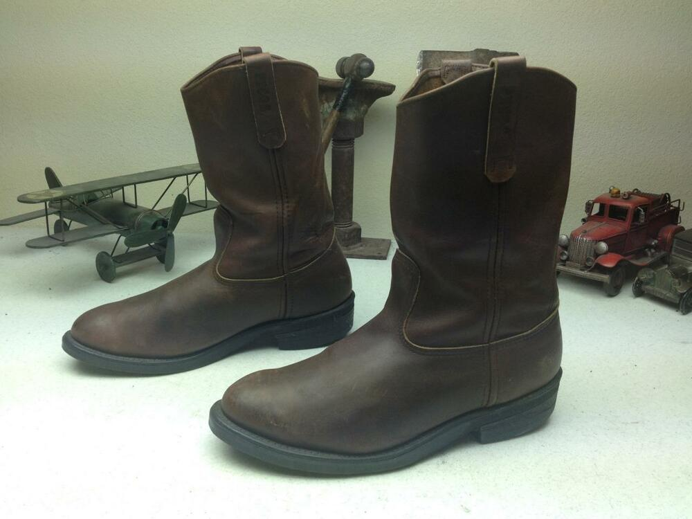 Vintage Pecos Red Wing Made In Usa Brown Engineer Work