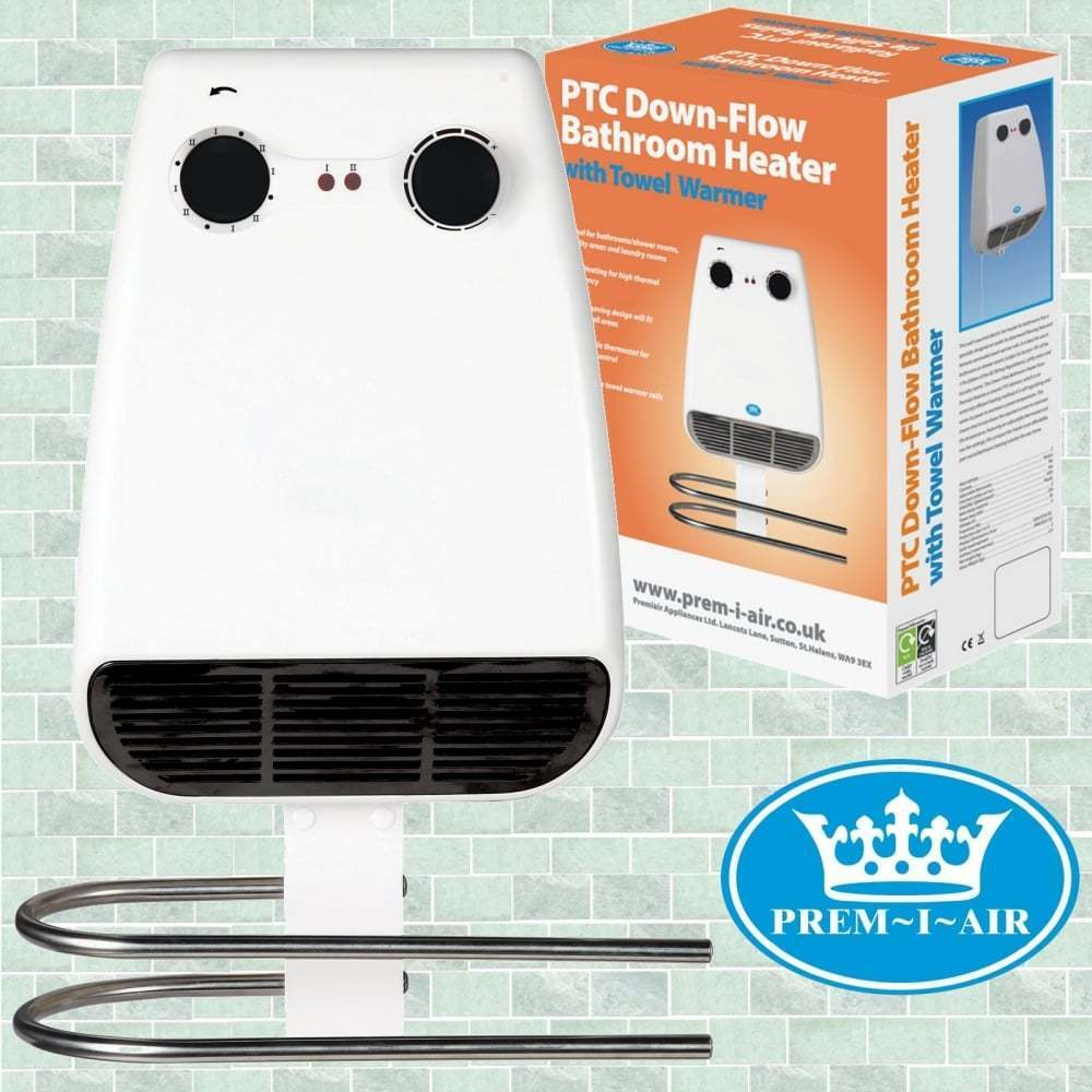 Bathroom Kitchen 2kw 2000w Electric Down Flow Downflow Wall Mounted Fan Heater Ebay
