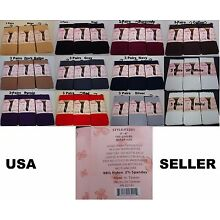 3 Pairs New WOMEN'S Opaque Tights FOOTED  Pantyhose underwear QUEEN SIZE #P3201
