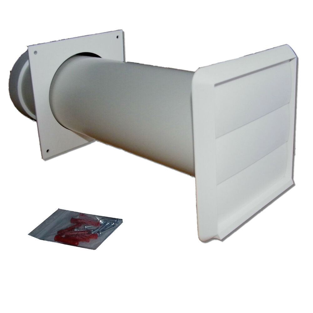 Tumble Dryer Exhaust Pipe ~ Tumble dryer vent kit white gravity outlet mm