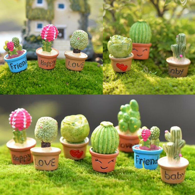 Buy Doll Furnishing Articles Resin Crafts Home Decoration: Miniature Dollhouse Small Potted Plants Flower Cactus