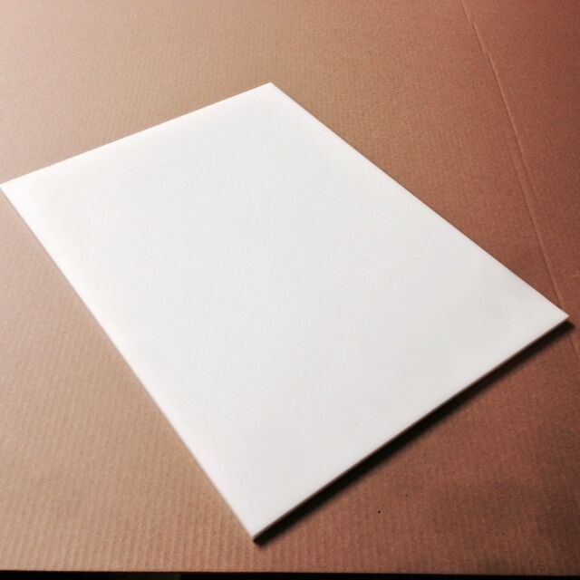 6 x 8 x 1 thick white plastic hdpe cutting board for White cutting board used for