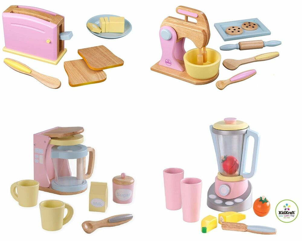 Wooden Kitchen Accessories ~ New kidkraft pastel play kitchen accessories wooden