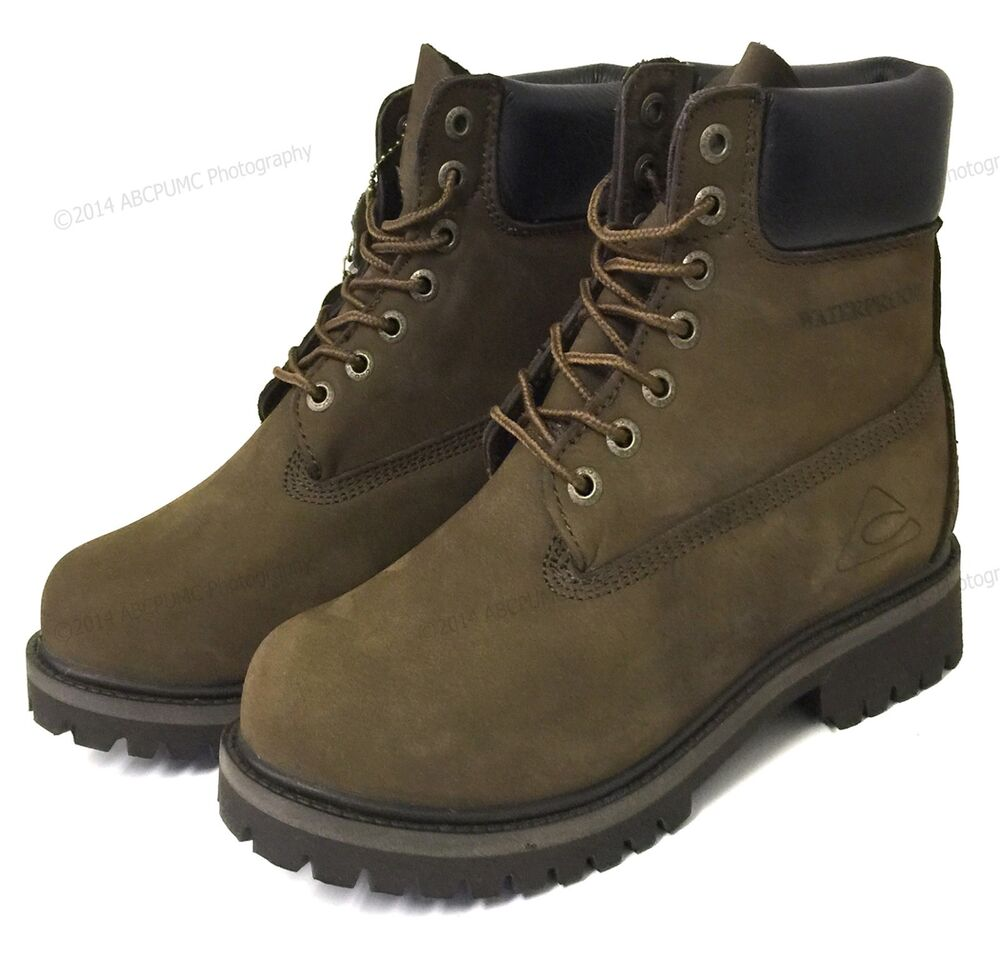 Boy's Boots Nubuck Leather Waterproof Hiking Work ...