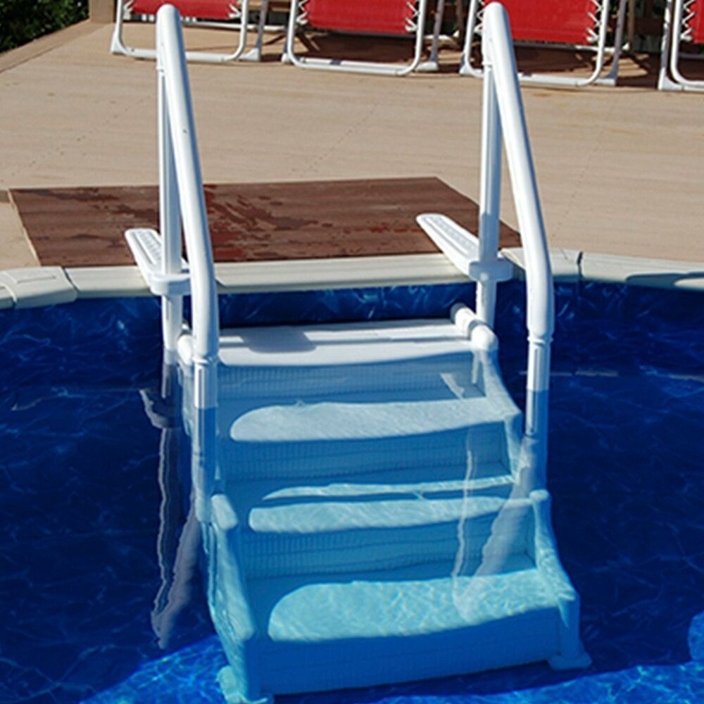 Mighty step above ground pool steps ebay Swimming pool ladders for above ground pools