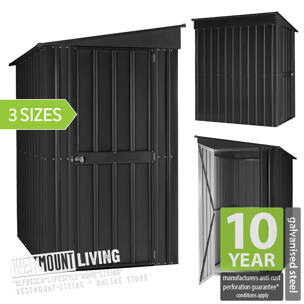 New 6x4 8x4 8x5 ft metal pent lean to garden steel shed for Garden shed 8x5