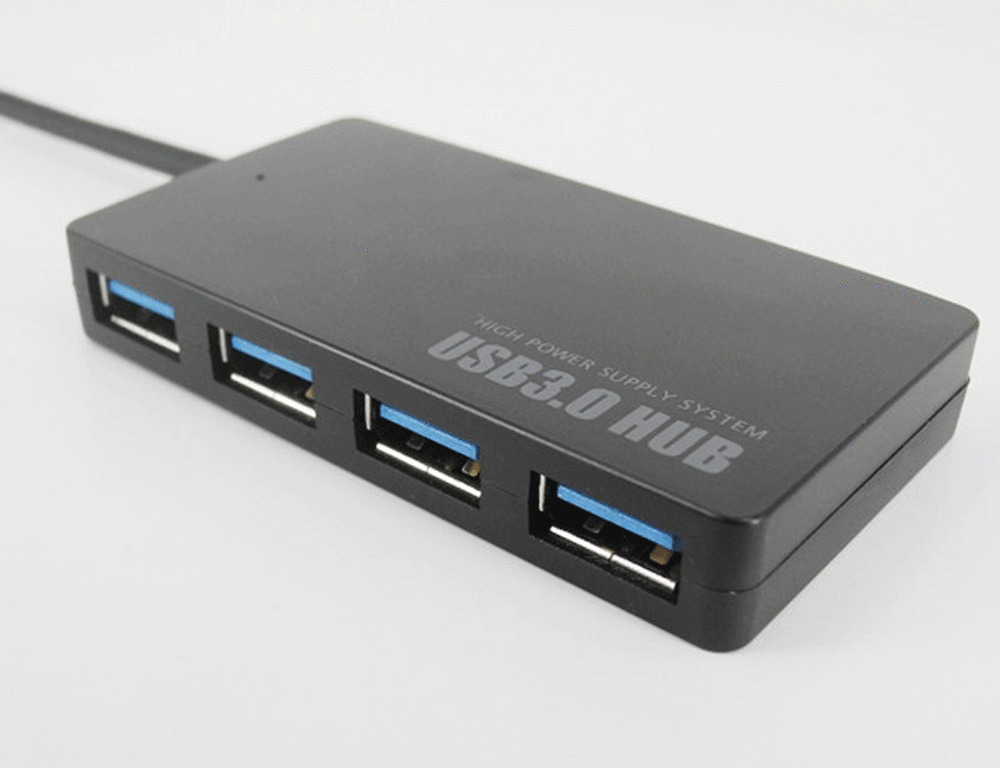 compact 4 port usb 3 0 hub 5gbps portable for pc mac laptop notebook desktop ebay. Black Bedroom Furniture Sets. Home Design Ideas