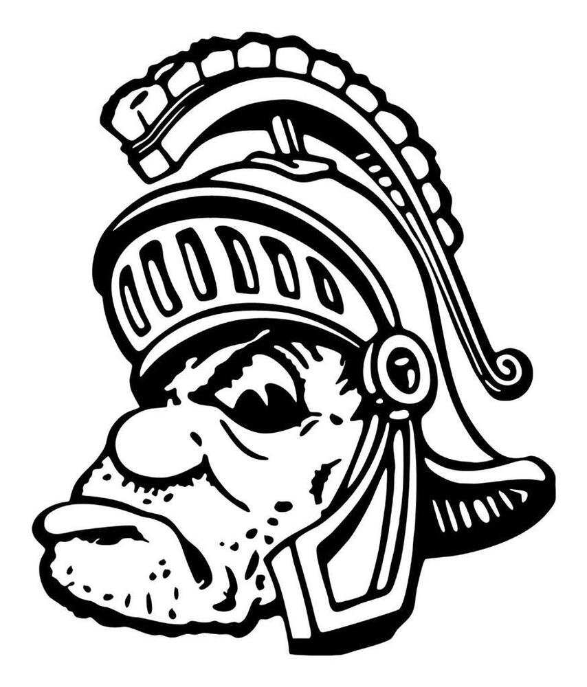 michigan state university coloring pages michigan state university spartans sparty 12 x 14 huge