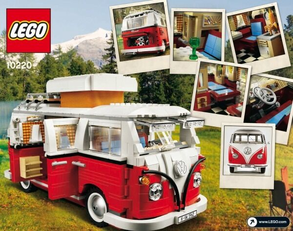lego 10220 vw bulli t1 campingbus 1334 teile ab 16 jahren. Black Bedroom Furniture Sets. Home Design Ideas