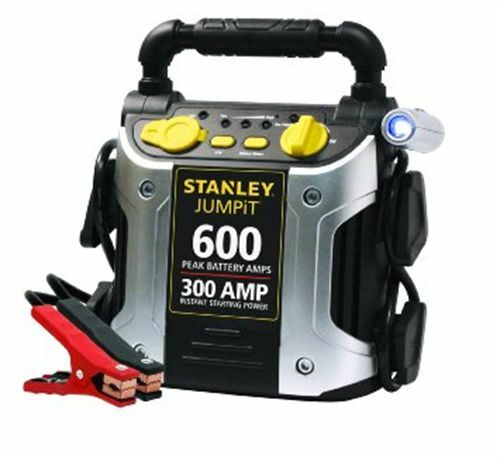 jump start battery stanley 300 amp car starter start auto jumper jump battery 11108