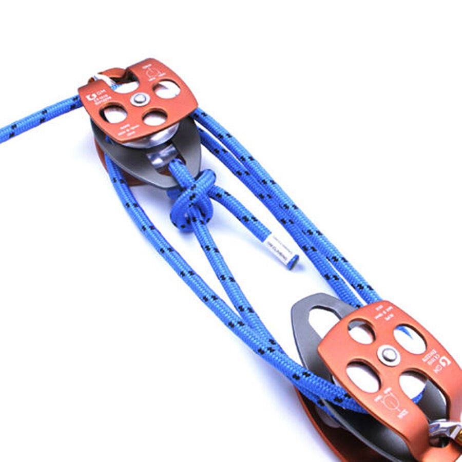 Block & Tackle Pulley Kit : Block and tackle kit lb pulley rigging rope rescue hauling tensioning