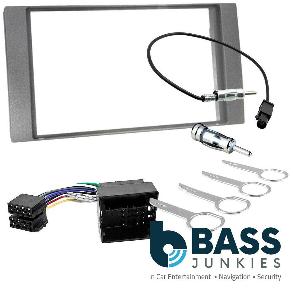 Ford Fiesta Mk7 2006 08 Car Stereo Double Din Fascia Fitting Kit Panel Wiring Harness Aerial Grey Dfp 07 09a Ebay