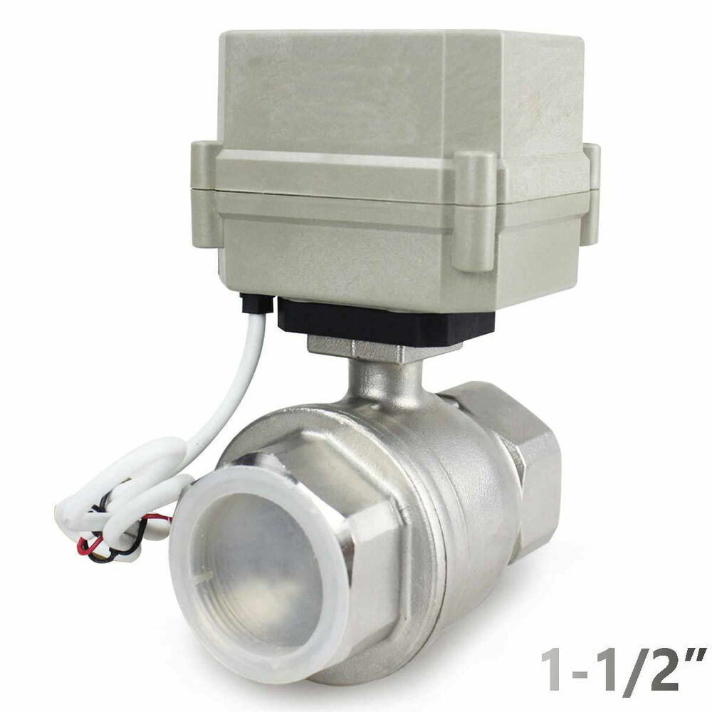 1 1 2 dn40 2 way ss304 motorized ball valve electrical for 1 motorized ball valve