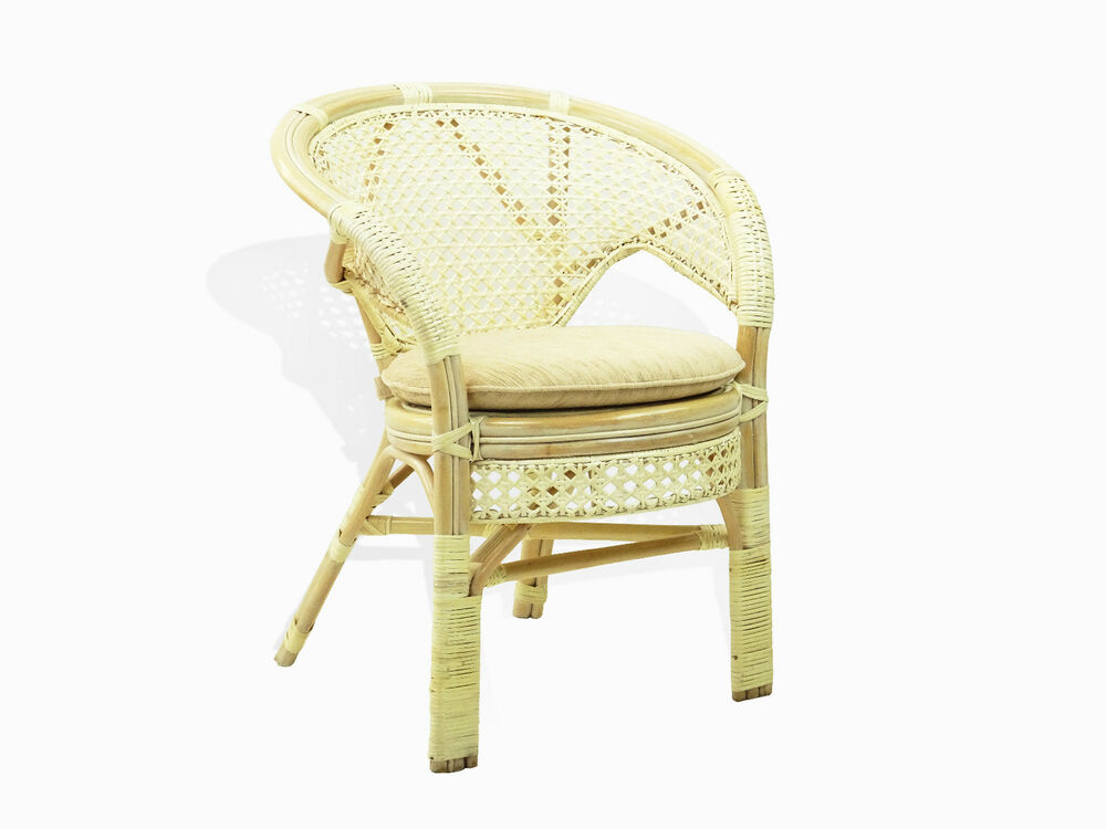 Pelangi Handmade Rattan Wicker Dining Lounge Chair W
