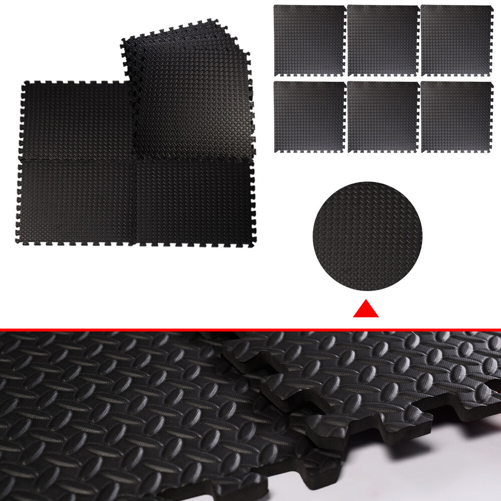 48 Sq Ft Interlocking Eva Foam Mats Tiles Gym Play Garage