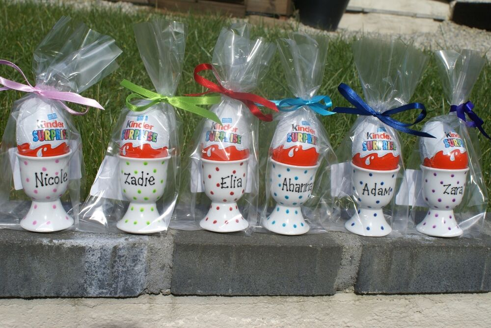 Wedding Gifts From Kids: Personalised Easter Handpainted Porcelain Egg Cup Gift