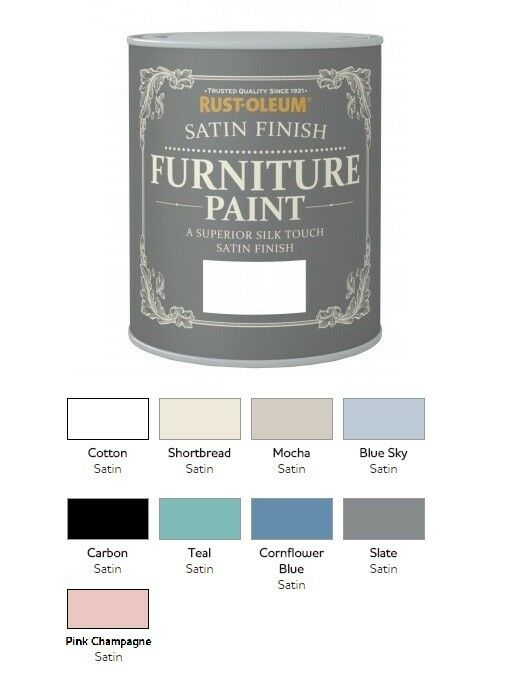 Rust Oleum Satin Furniture Paint 750ml 125ml Chic Shabby Vintage Paints Ebay