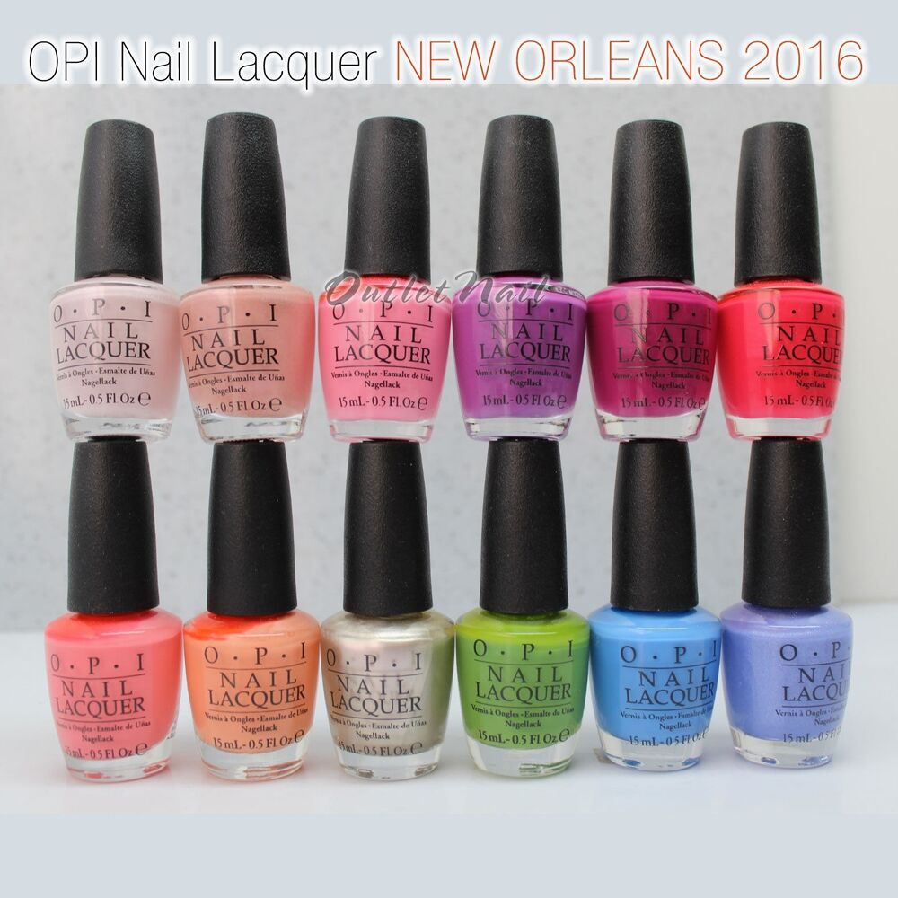 Nail Enamel Artinya: OPI Nail Lacquer NEW ORLEANS 2016 Spring Summer Collection