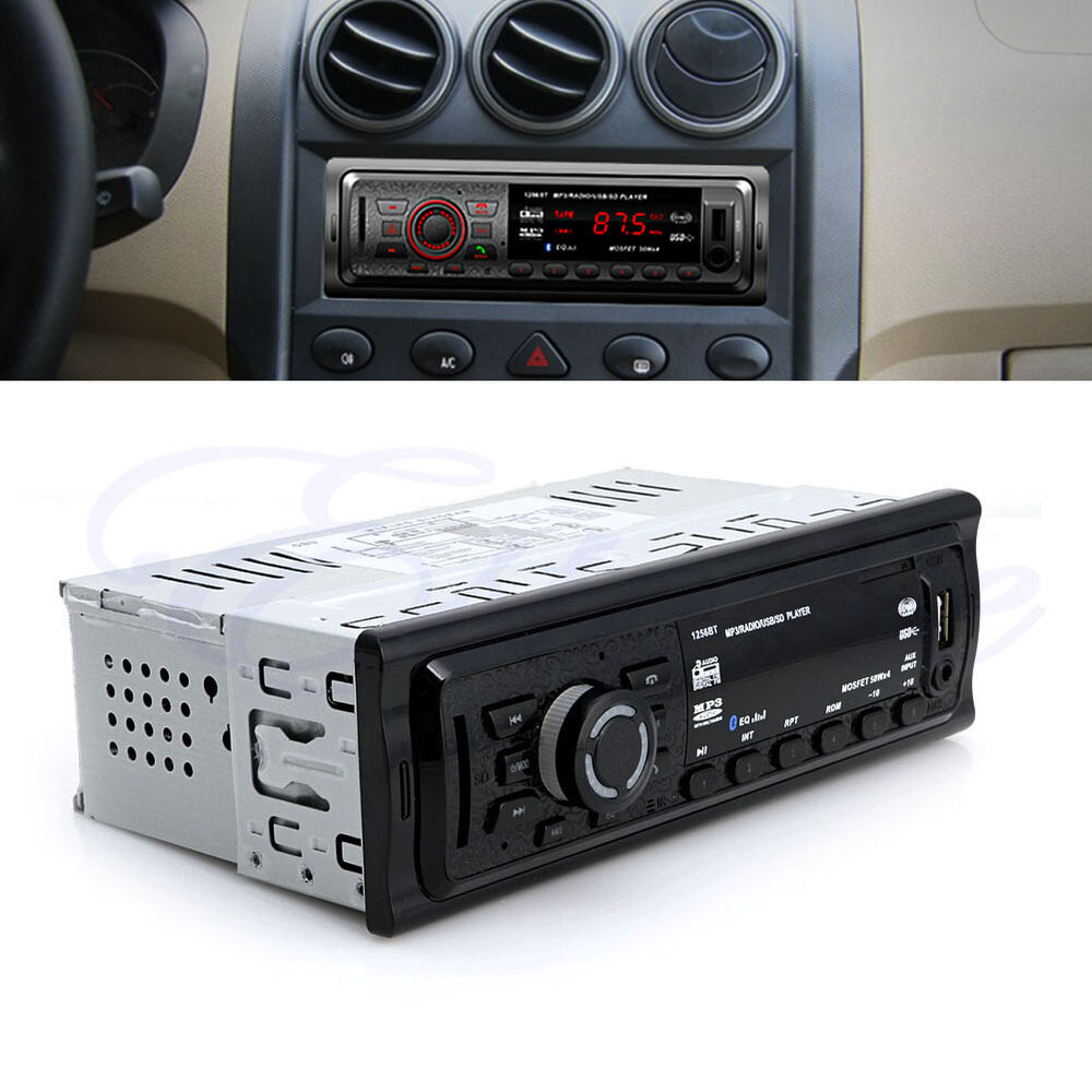 bluetooth car stereo audio in dash fm aux input receiver usb sd mp3 radio player ebay. Black Bedroom Furniture Sets. Home Design Ideas
