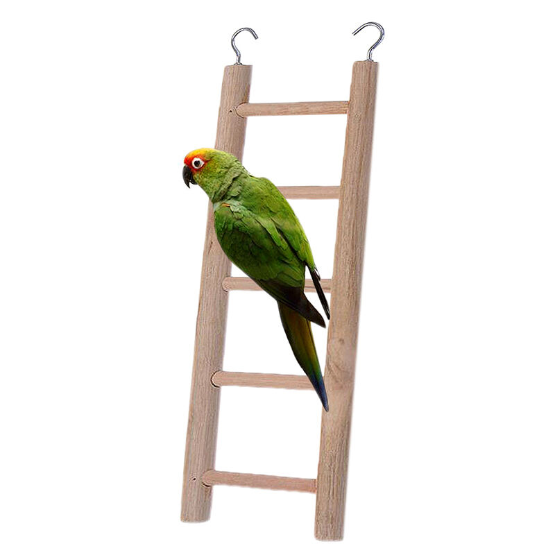 Wood Bird Toys : Wooden ladder parrot bird pet budgie rodent hamster mouse