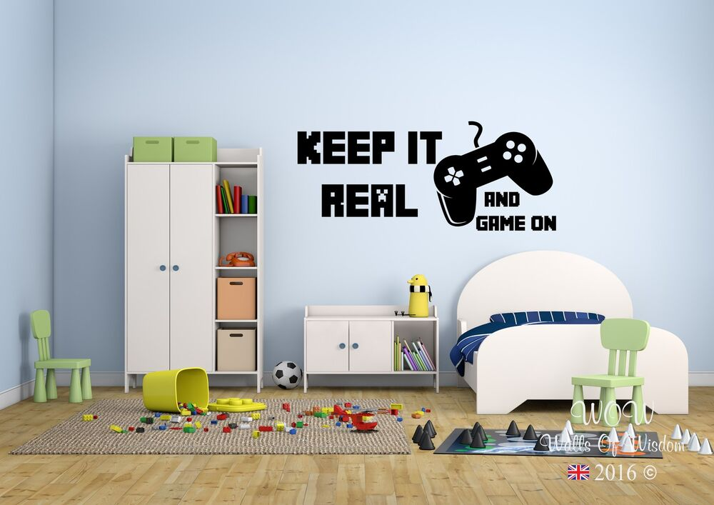Children Teenager Adult Bedroom Wall Sticker Keep It Real