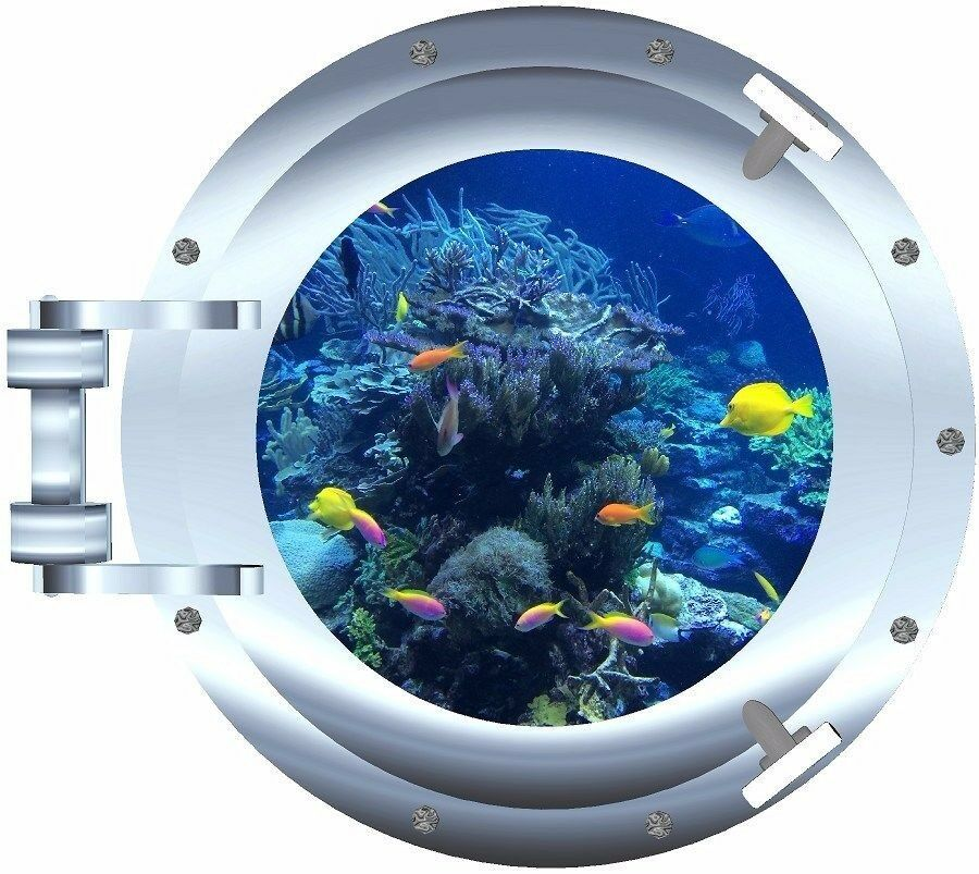 Ocean Tropical Fish Porthole Decal Camper Rv Motor Home