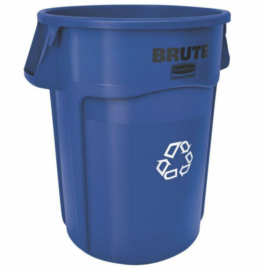 Rubbermaid Brute Blue Recycling Waste 32 Gallon Container