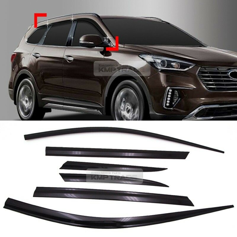 smoke window sun vent visor rain guards 6p d075 for hyundai 2016