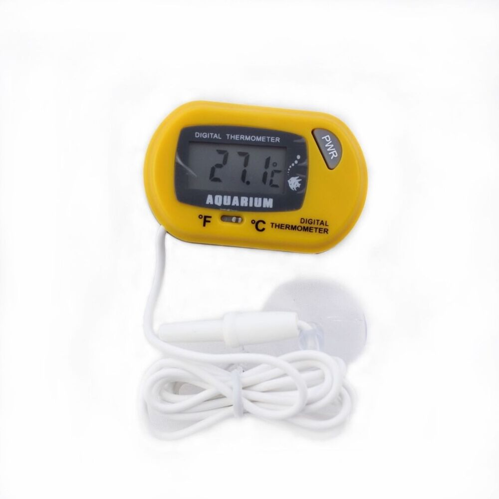 Digital LCD Fish Tank Aquarium Marine Water Thermometer Temperature Orange | eBay