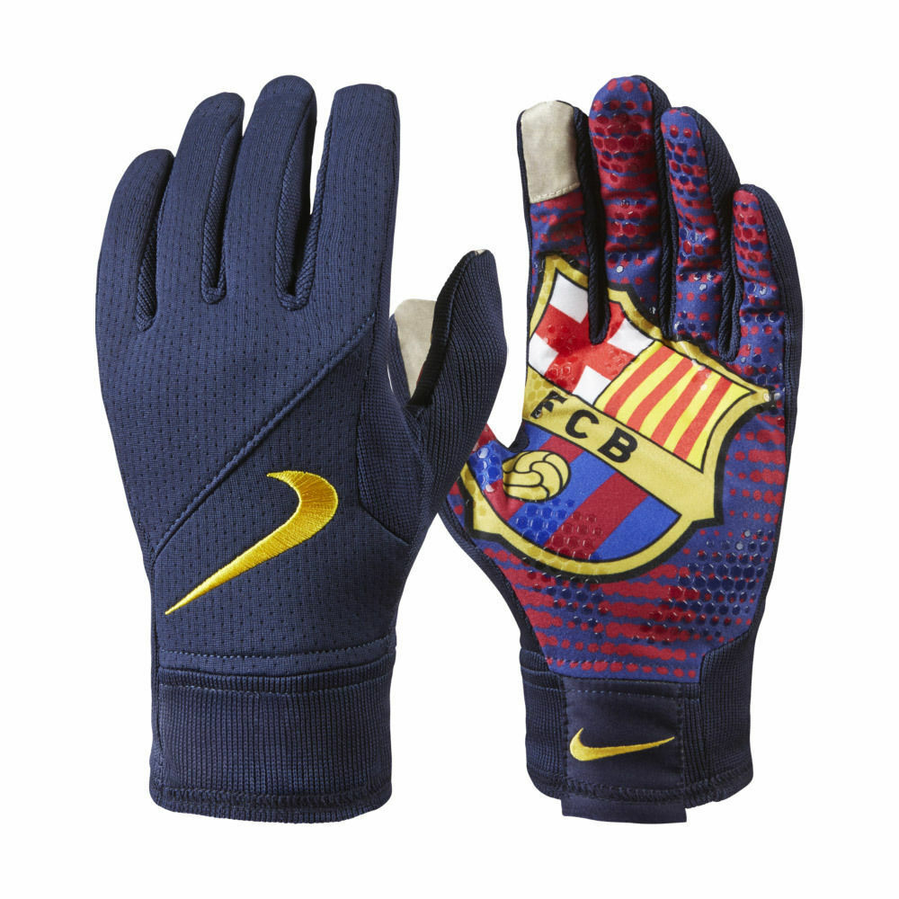 Nike Soccer Gloves: NIKE FC BARCELONA FIELD PLAYER GLOVES TRAINING SOCCER Navy