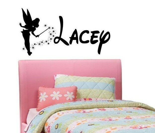 Wall Art Stickers Custom : Personalized name tinkerbell walt disney custom vinyl wall