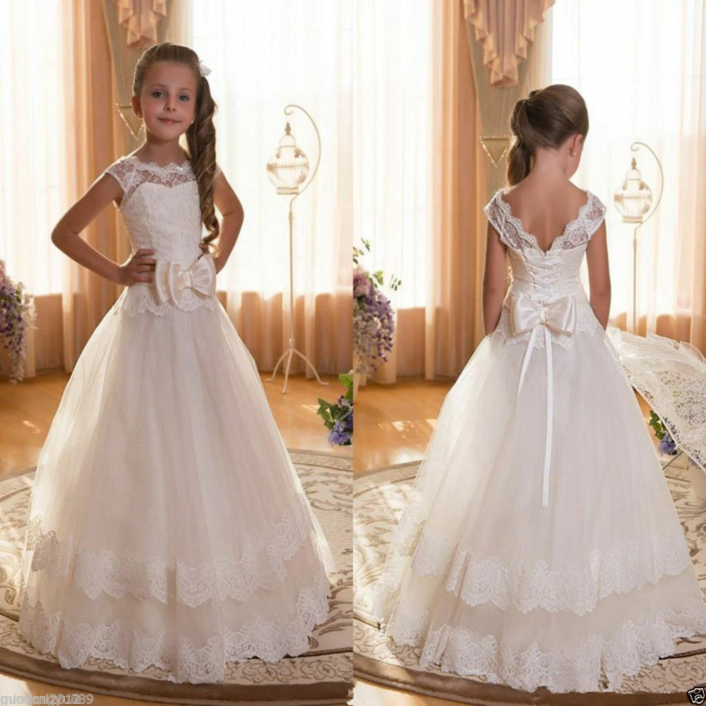 Dresses For Flower Girls For Weddings: Girl Communion Party Prom Princess Pageant Bridesmaid