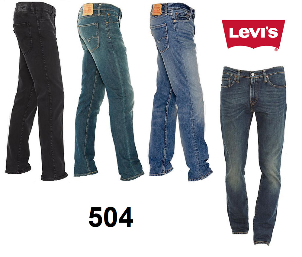 147a76a3 Genuine LEVIS 504 Regular Straight Fit Mens Denim Jeans LEVI Blue **New  Stock** | eBay