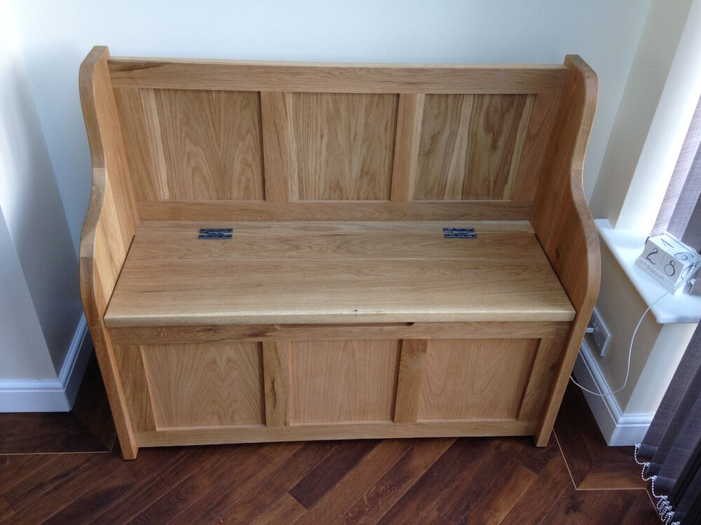 4 ft Solid Oak Monks Bench/Settle/Pew With Storage (MADE ...