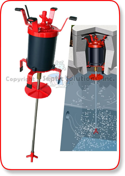 Ultra air septic tank shaft aerator comparable for Septic tank aerator motor