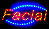 Ultra bright LED Neon Light Animated FACIAL OPEN Business Sign LB235