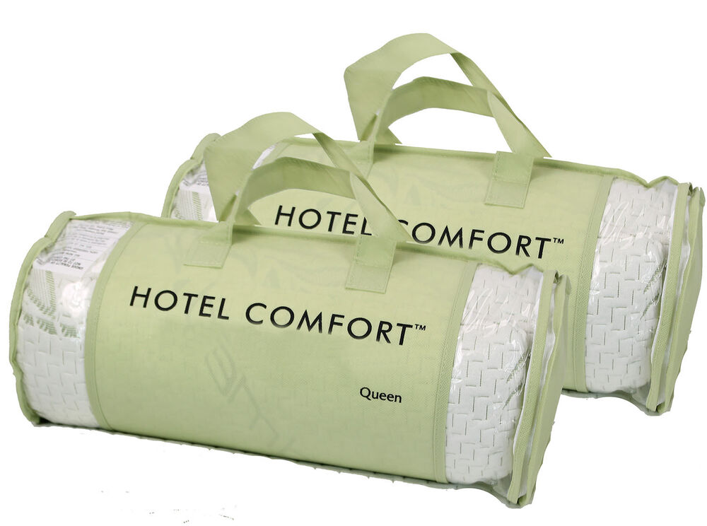 Hotel comfort bamboo pillows memory foam queen size for Comfort inn pillows